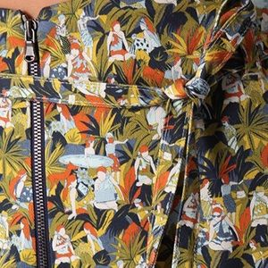 """Suno """"Little People"""" Printed High Waisted Shorts"""